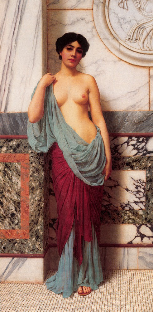 At the Thermae by John William Godward