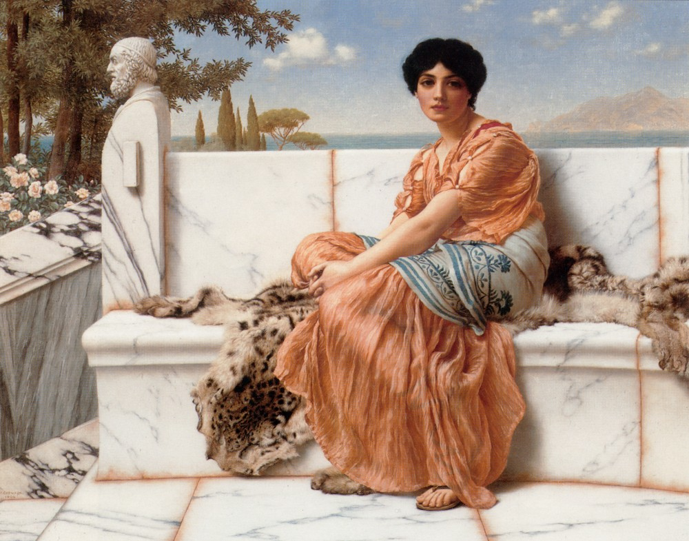 In the Days of Sappho by John William Godward