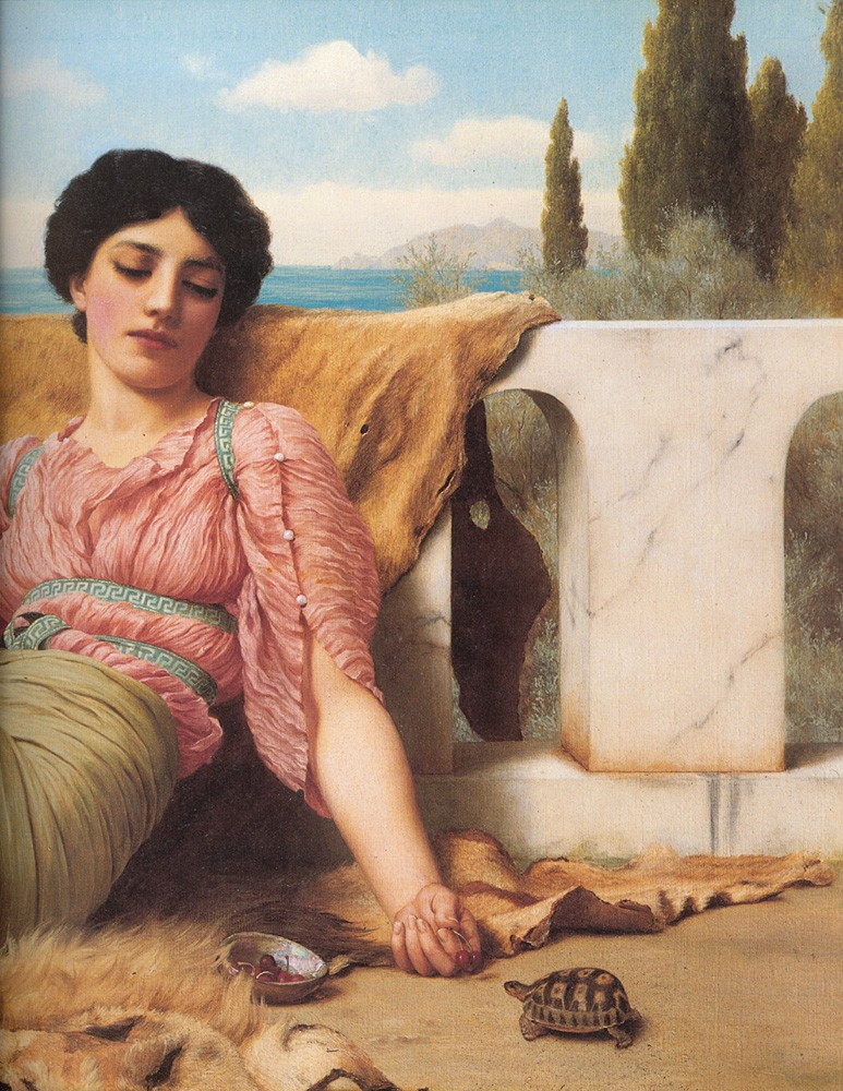 A Quiet Pet by John William Godward