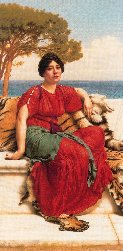By the Blue Ionian Sea by John William Godward