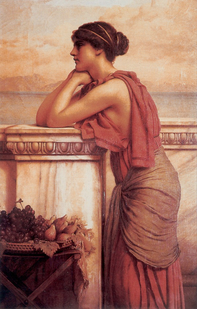 By the Wayside by John William Godward