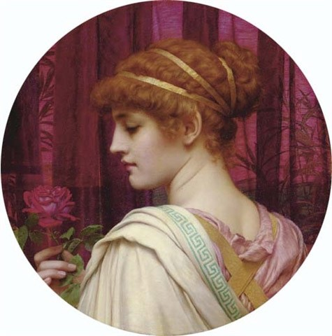 Chloris A Summer Rose by John William Godward