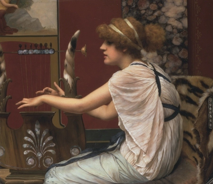 Erato at her lyre by John William Godward