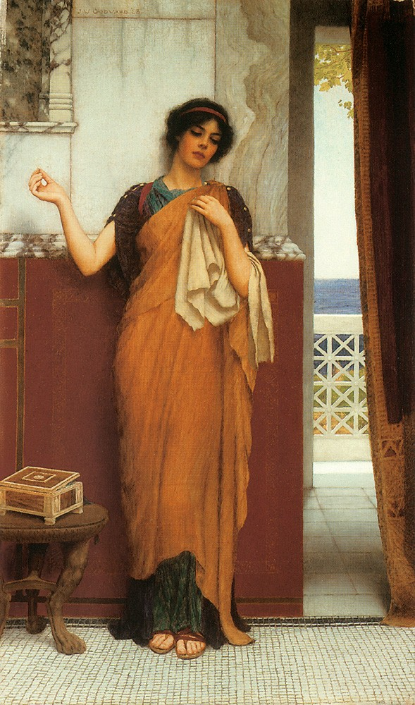 Idle Thoughts by John William Godward