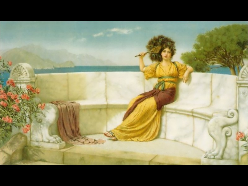 In the Prime of the Summer Time by John William Godward