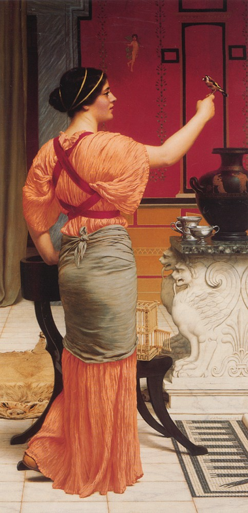Lesbia with her Sparrow by John William Godward