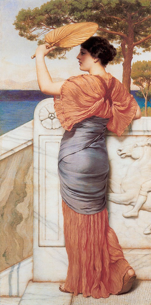 On the Balcony by John William Godward