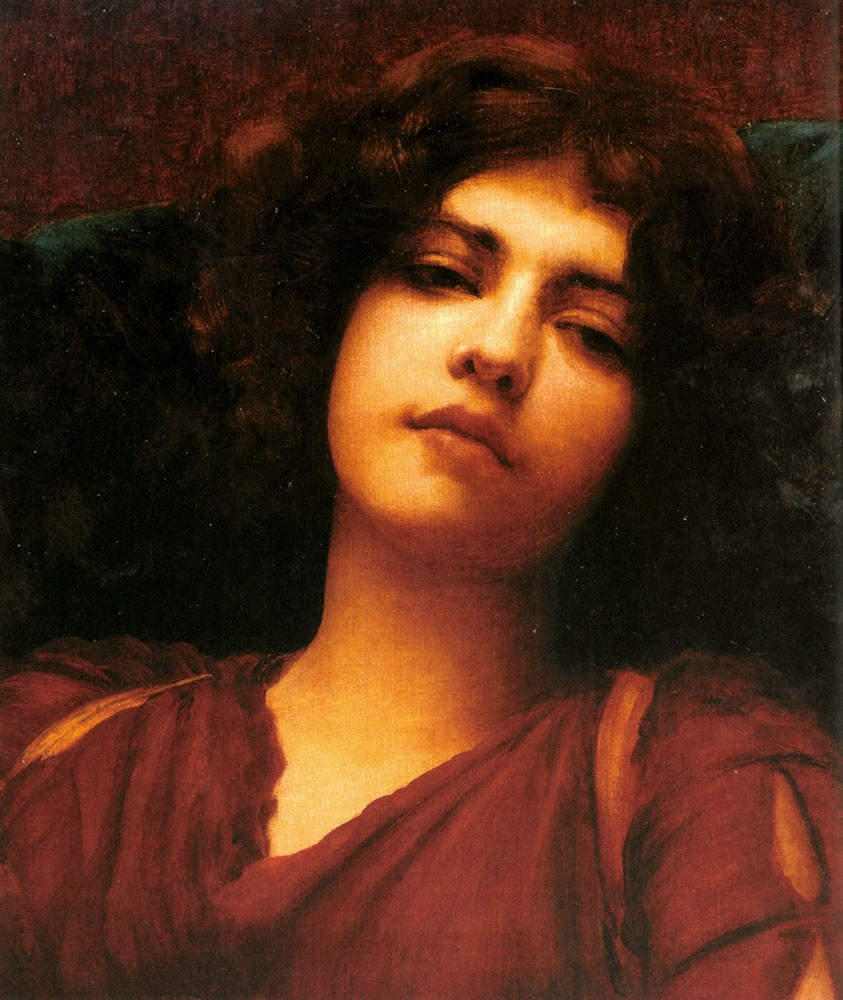 Reverie(Study) by John William Godward