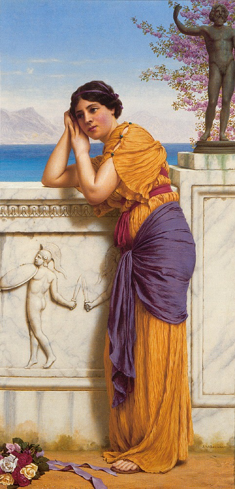 Rich Gifts Wax Poor When Lovers Prove Unkind by John William Godward