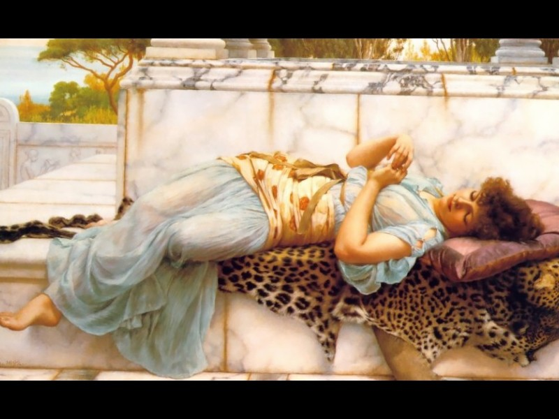 The Betrothed by John William Godward