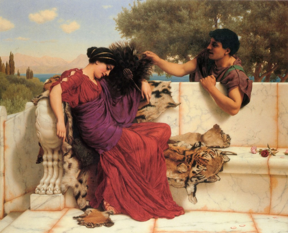 The Old, Old Story by John William Godward