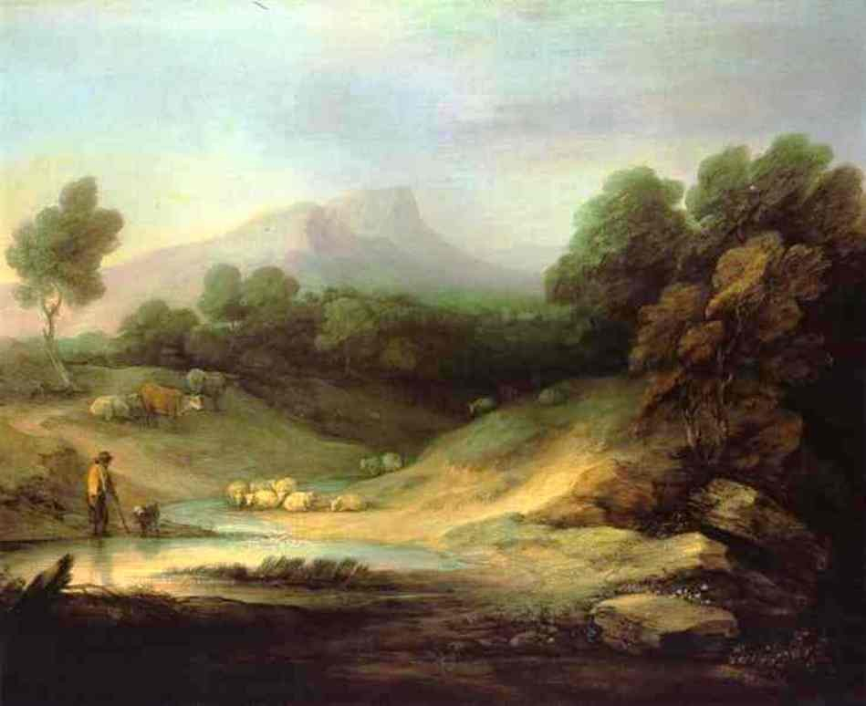 Mountain Landscape With Shepherd by Thomas Gainsborough