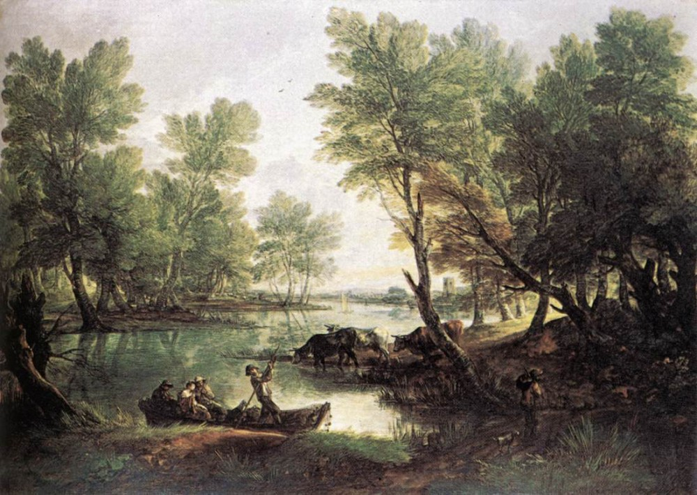 River Landscape by Thomas Gainsborough