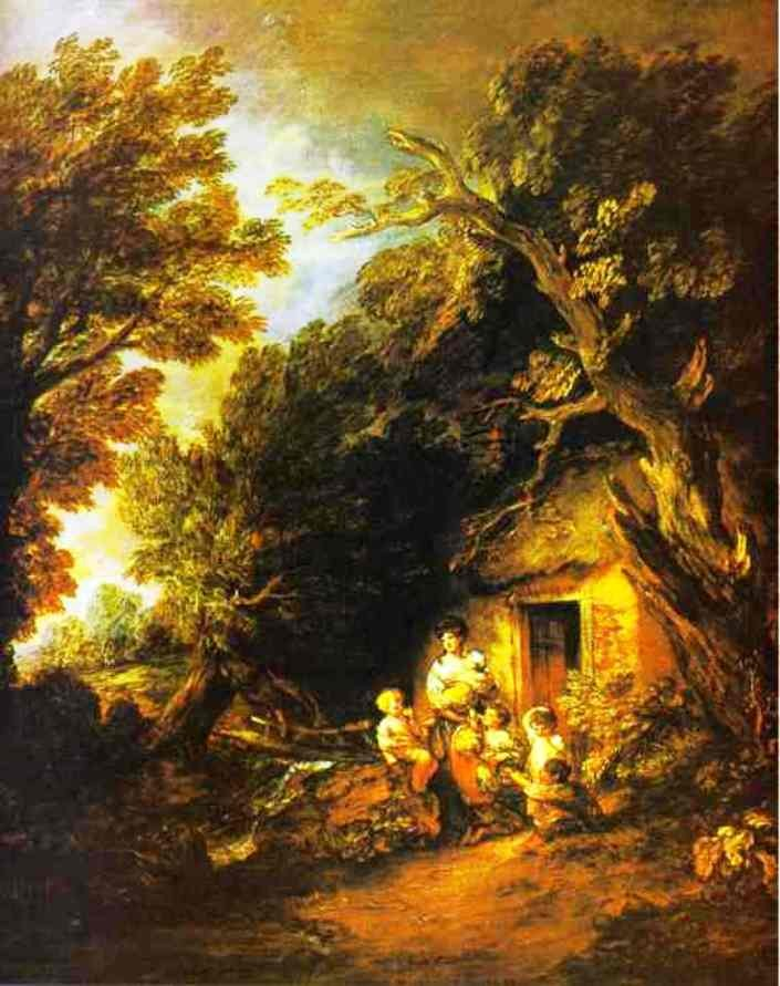 The Cottage Door by Thomas Gainsborough & The Cottage Door by Gainsborough
