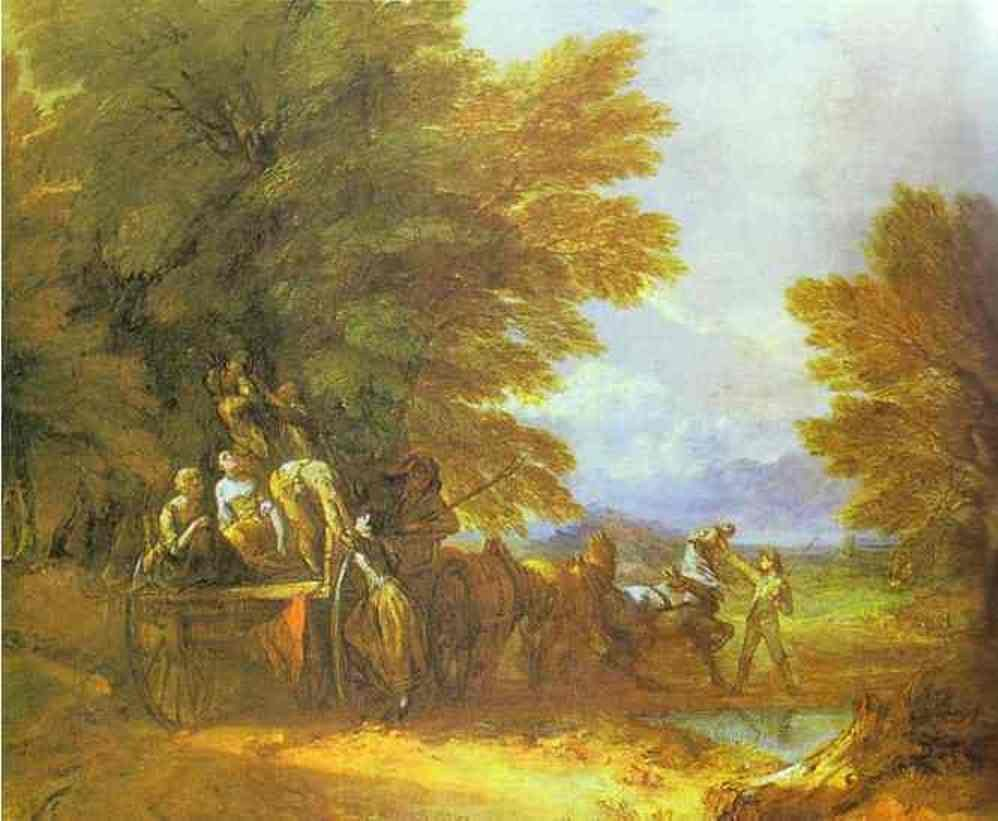 The Harvest Wagon by Thomas Gainsborough