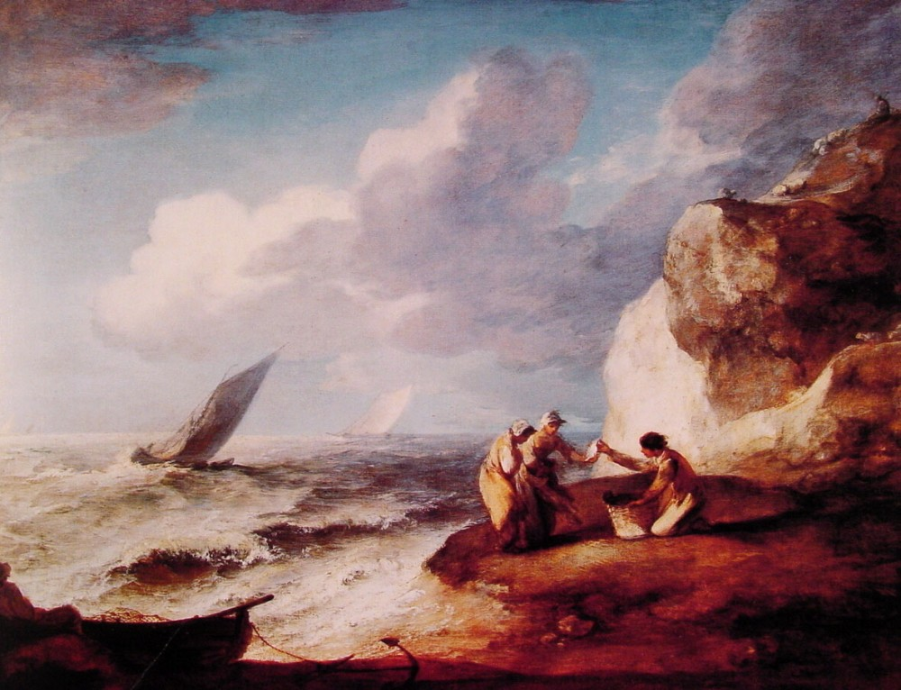 A Rocky Coastal Scene by Thomas Gainsborough