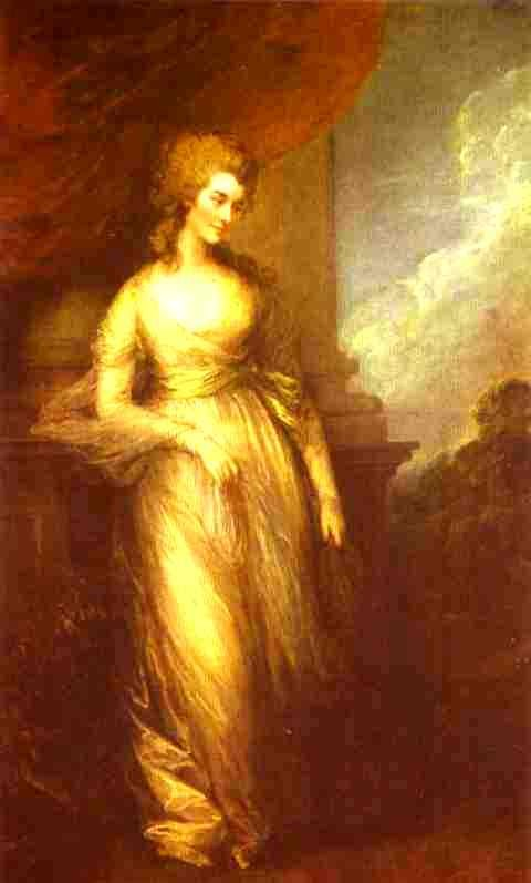 Georgiana Duchess Of Devonshire by Thomas Gainsborough