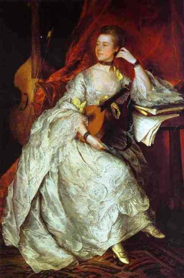 Mrs Philip Thicknesse Nee Anne Ford by Thomas Gainsborough