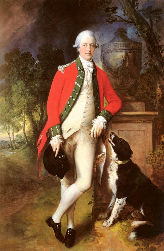 Portrait Of Colonel John Bullock by Thomas Gainsborough