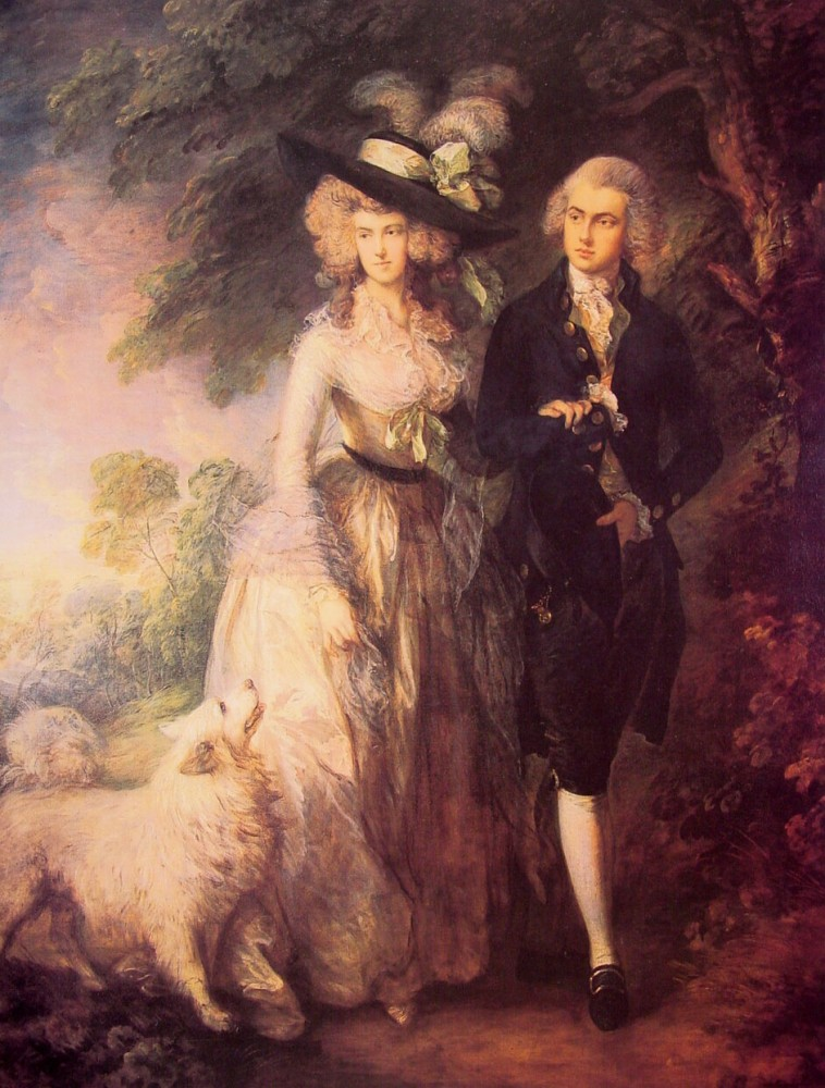 Mr And Mrs William Hallett by Thomas Gainsborough