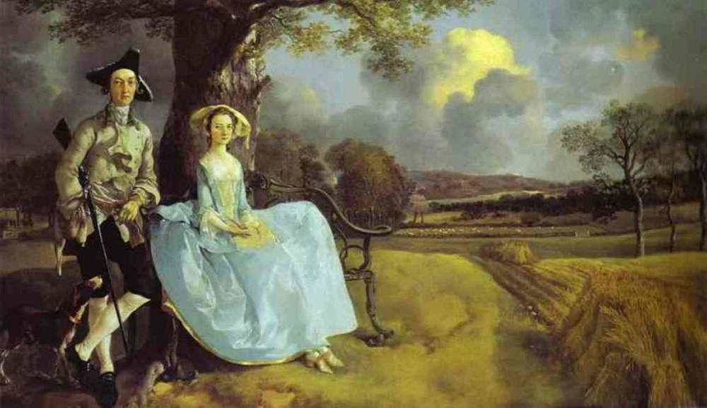 Robert Andrews And His Wife Frances by Thomas Gainsborough