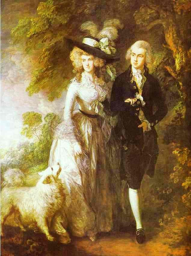 William Hallett And His Wife Elizabeth Nee Stephen by Thomas Gainsborough