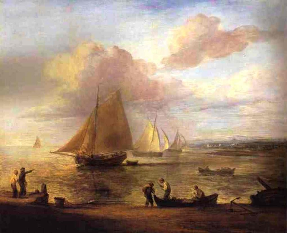 Coastal Scene A Calm by Thomas Gainsborough