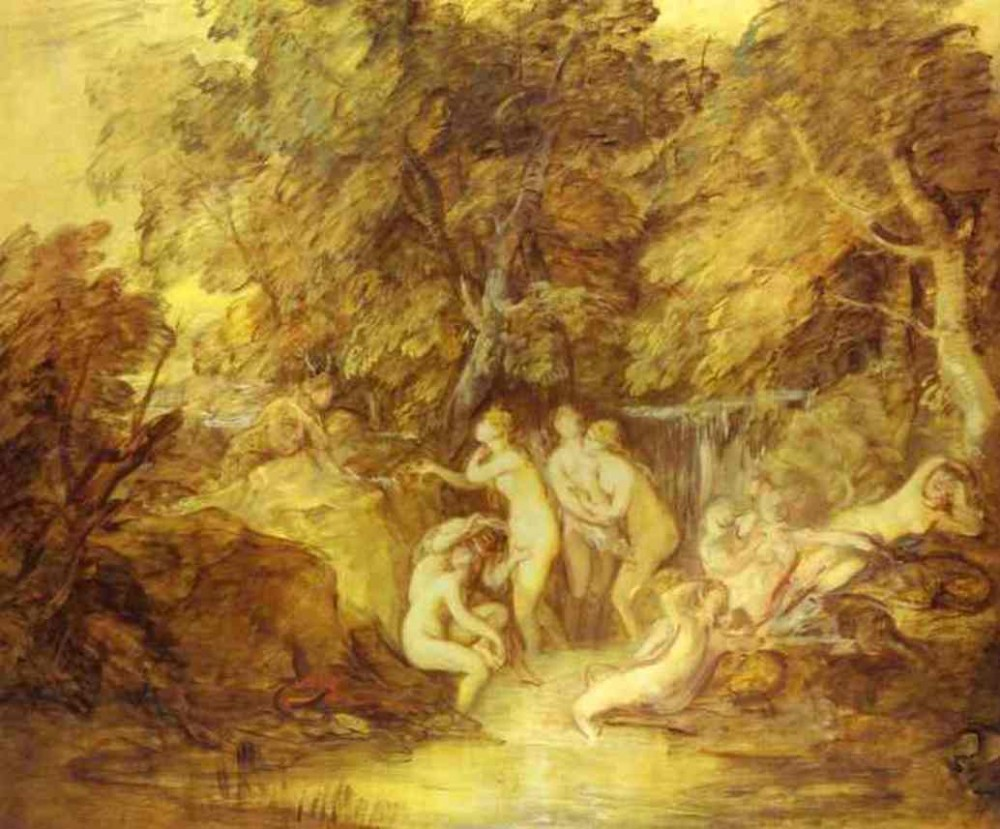 Diana And Actaeon by Thomas Gainsborough