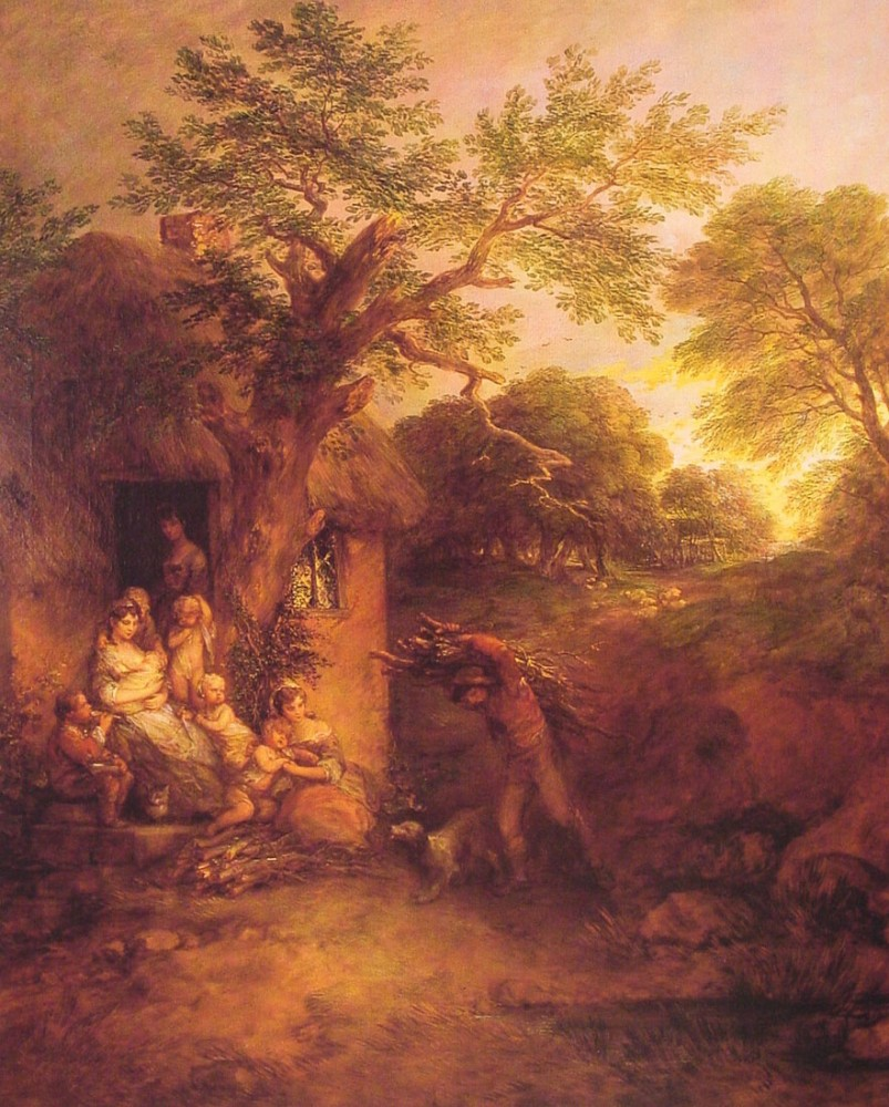 The Woodcutters Return by Thomas Gainsborough
