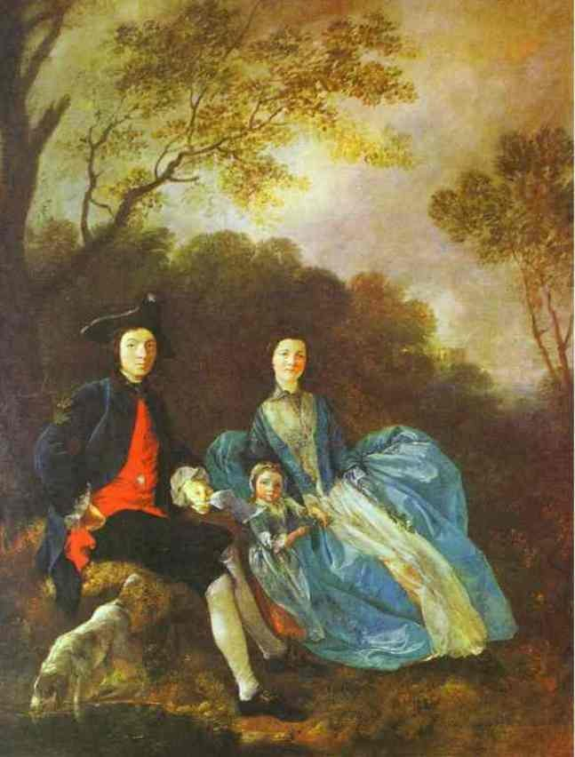 Thomas Gainsborough With His Wife And Elder Daughter Mary by Thomas Gainsborough