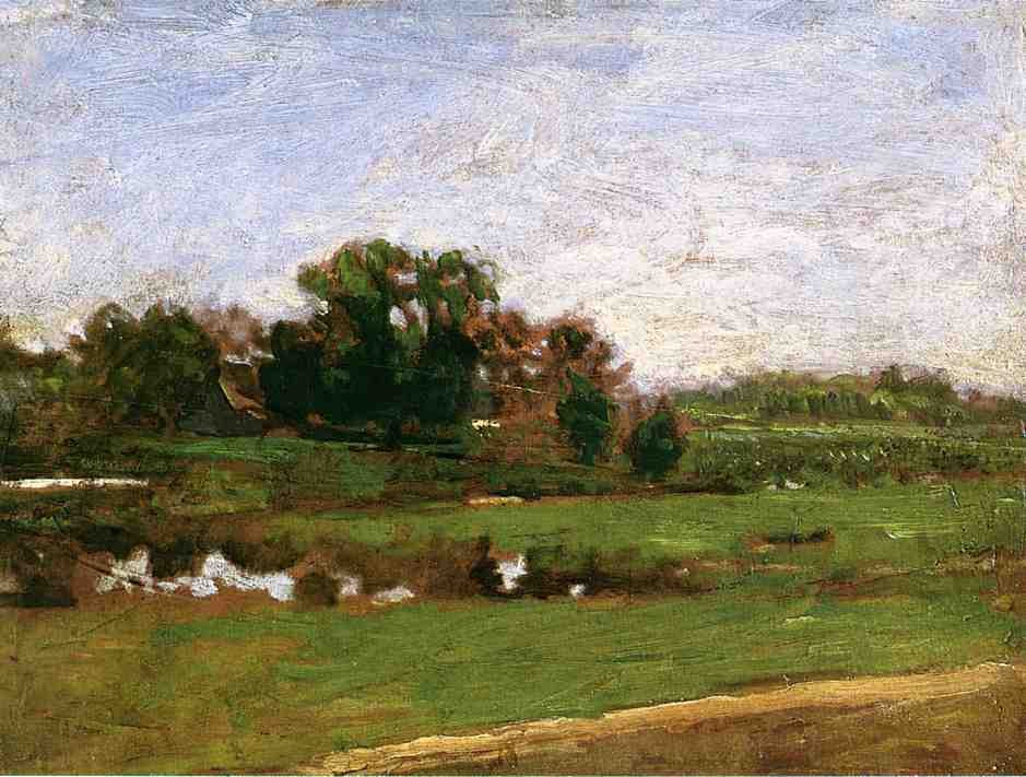 Study For The Meadows Gloucester New Jersey by Thomas Eakins
