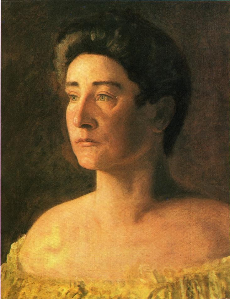 A Singer Portrait Of Mrs. Leigo by Thomas Eakins