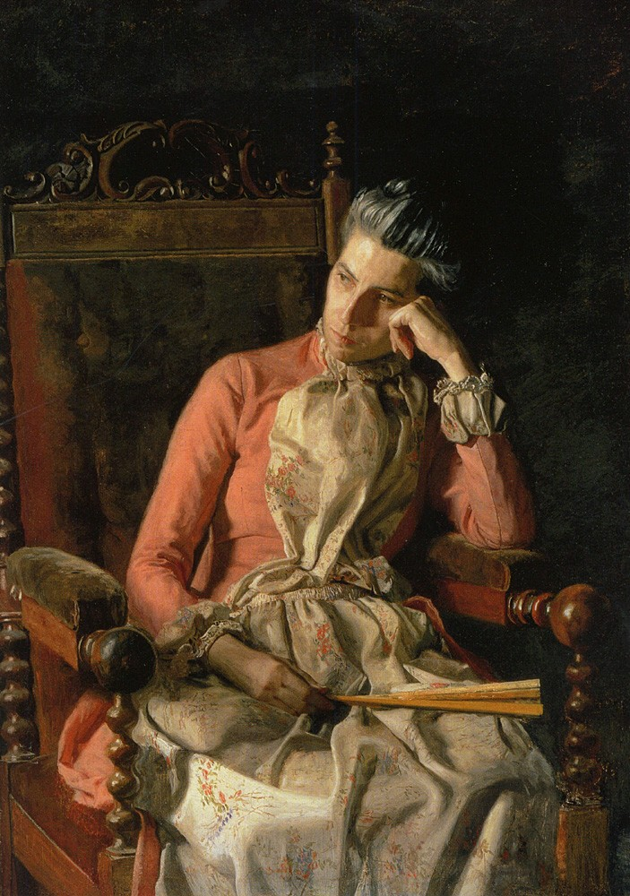 Portrait Of Amelia Van Buren by Thomas Eakins