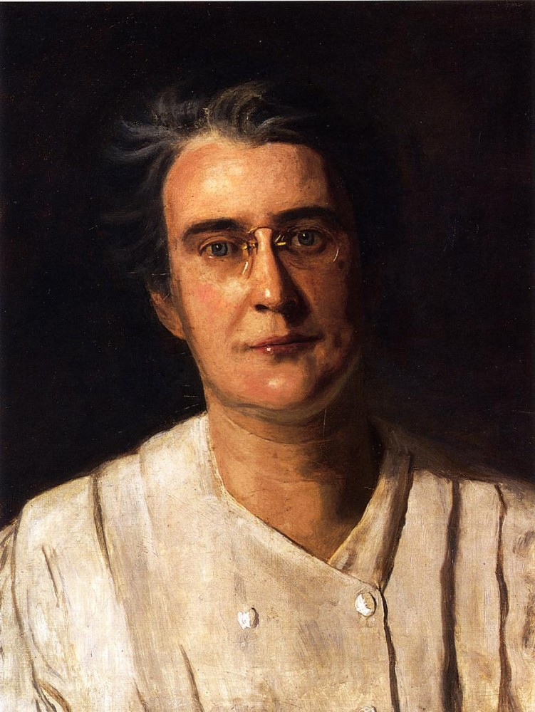 Portrait Of Lucy Langdon Williams Wilson by Thomas Eakins