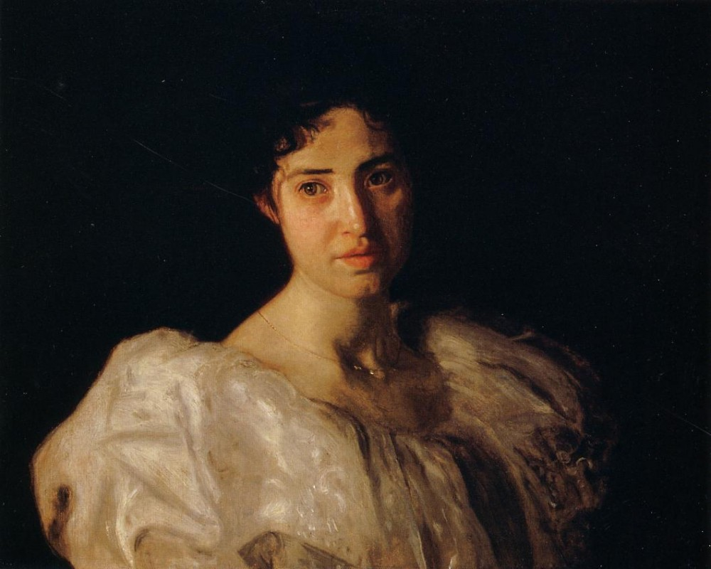 Portrait Of Lucy Lewis by Thomas Eakins