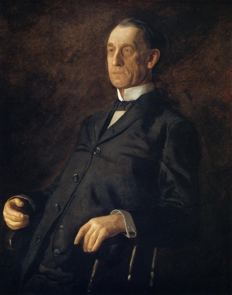 Portrait Of Asburyh W. Lee by Thomas Eakins
