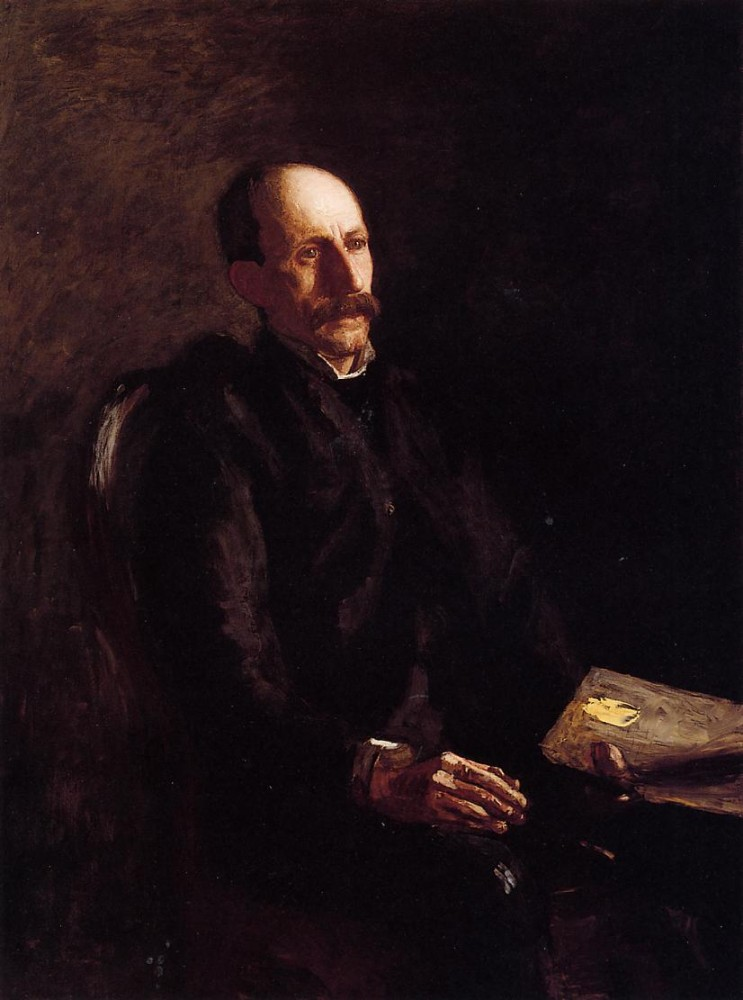 Portrait Of Charles Linford The Artist by Thomas Eakins