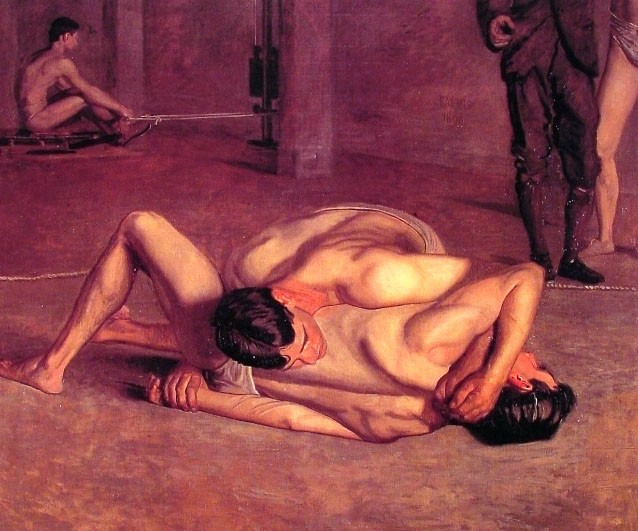 The Wrestlers by Thomas Eakins