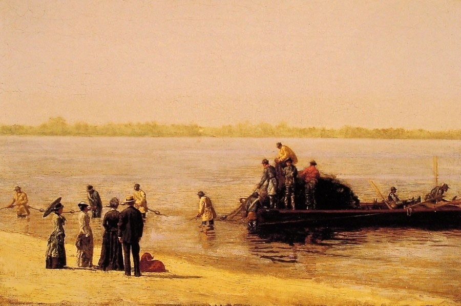 Shad Fishing at Gloucester on the Deleware River by Thomas Eakins