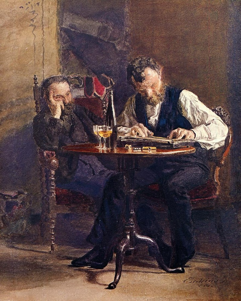 The Zither Player by Thomas Eakins
