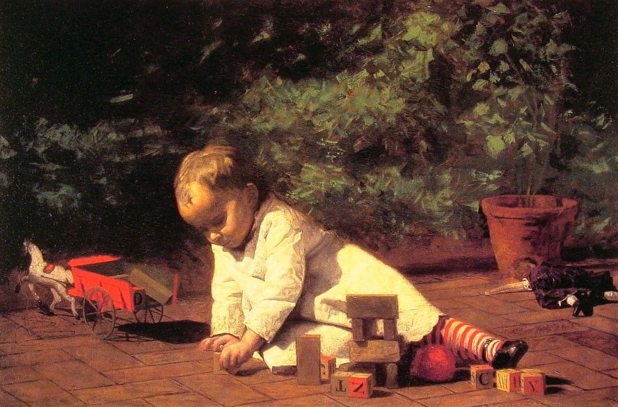 Baby At Play by Thomas Eakins