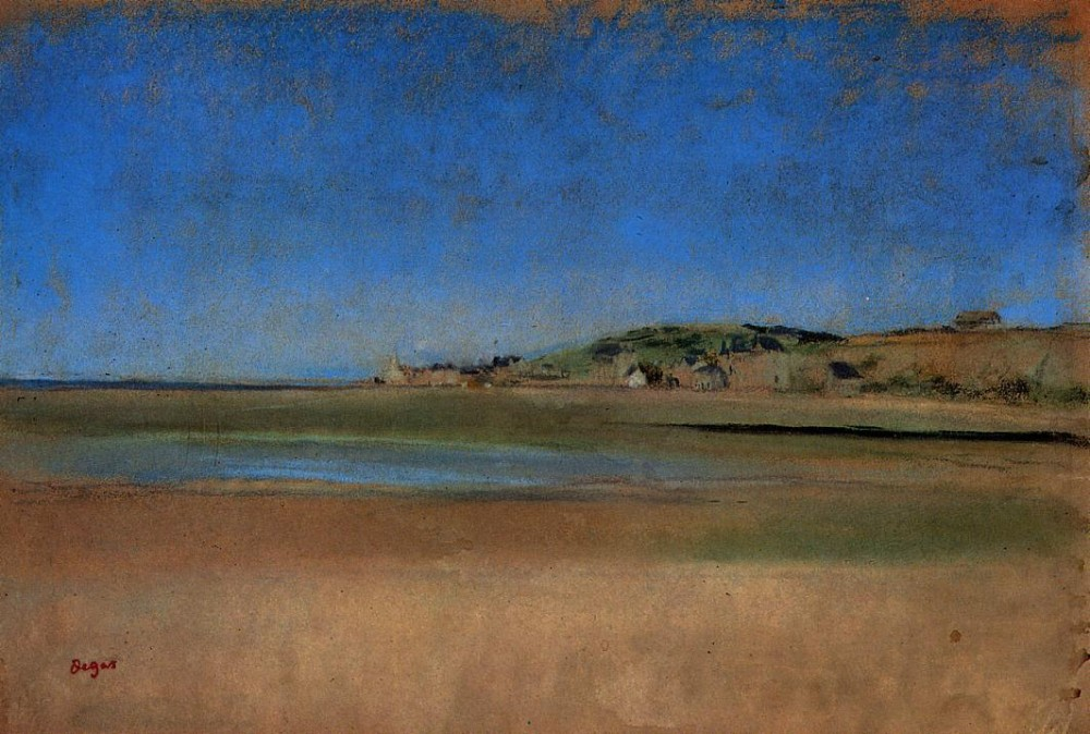 Houses by the Seaside by Edgar Degas