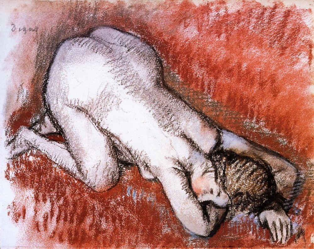 Kneeling Nude by Edgar Degas