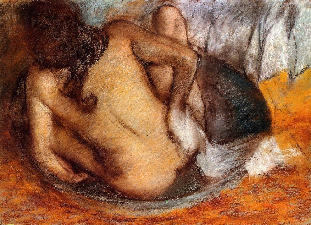 Nude in a Tub by Edgar Degas