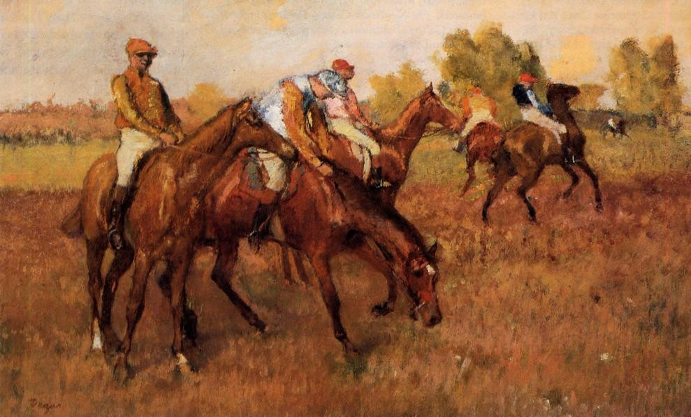Before the Race by Edgar Degas