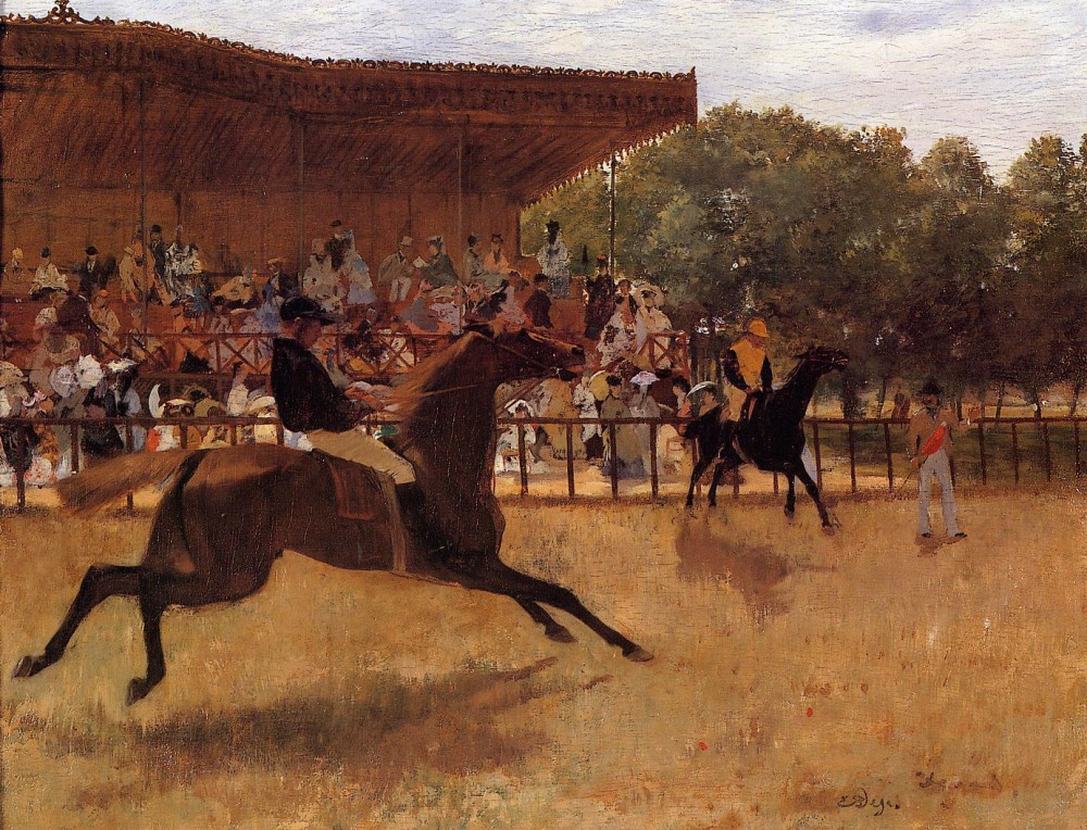 The False Start by Edgar Degas