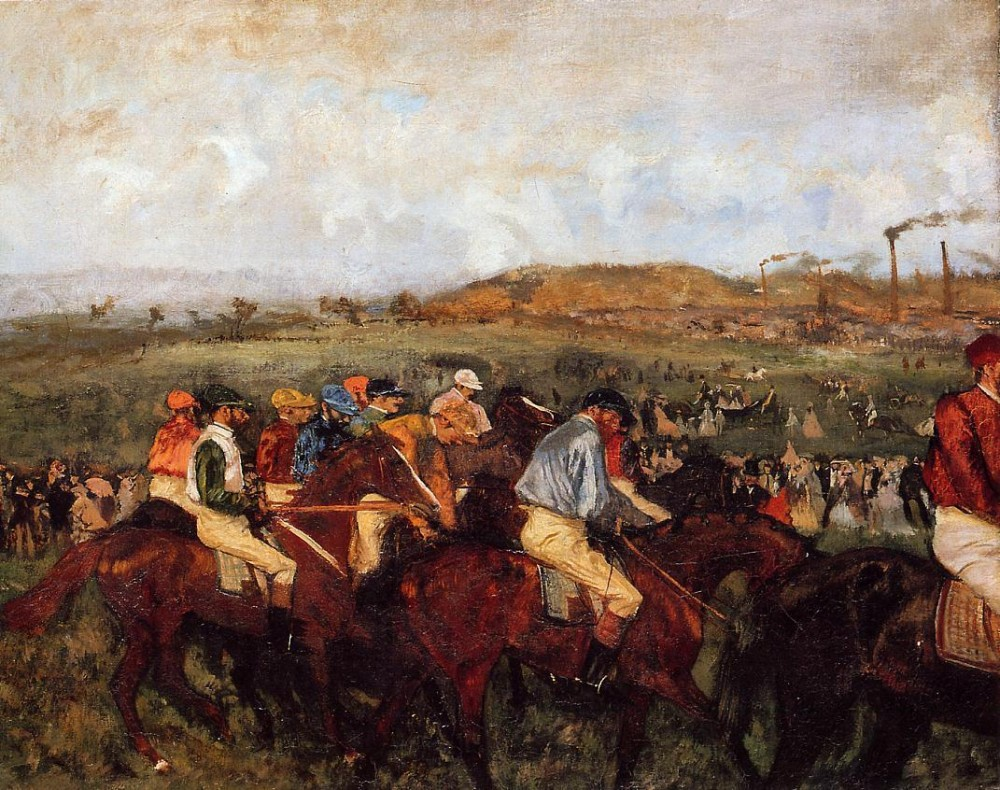 The Gentlemen's Race Before the Start by Edgar Degas