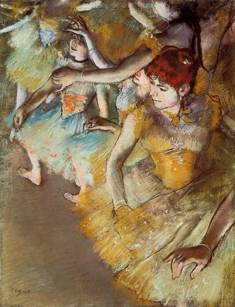 Ballet Dancers on the Stage by Edgar Degas