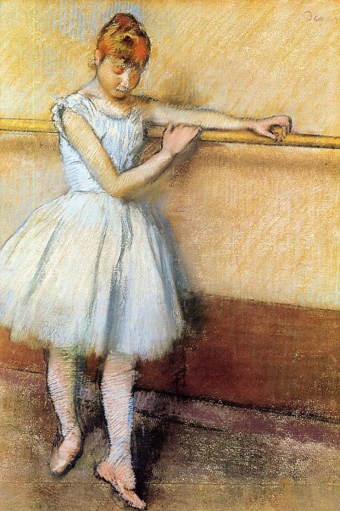 Dancer at the Barre by Edgar Degas