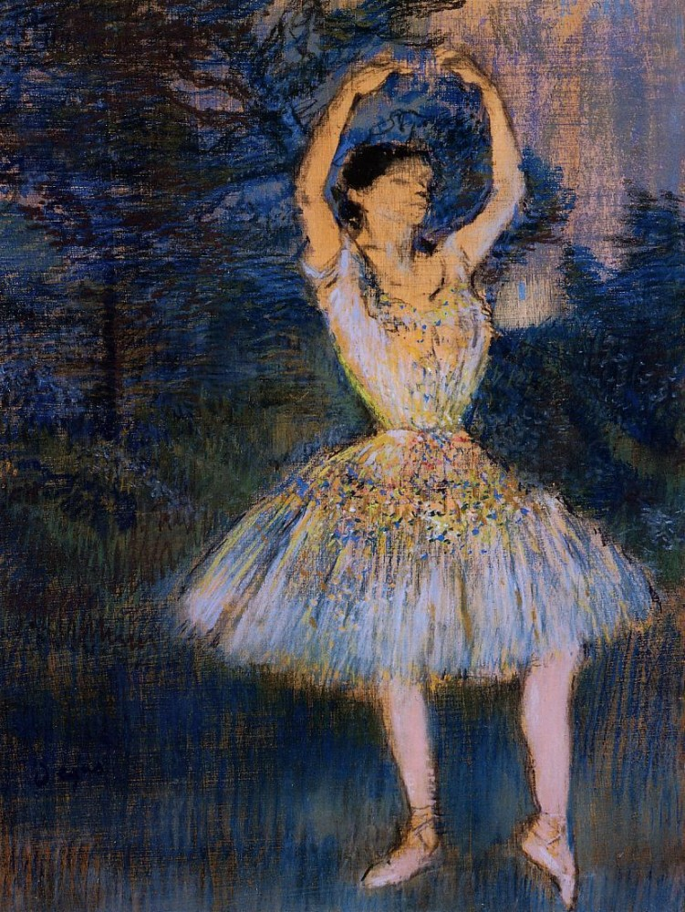 Dancer with Raised Arms by Edgar Degas